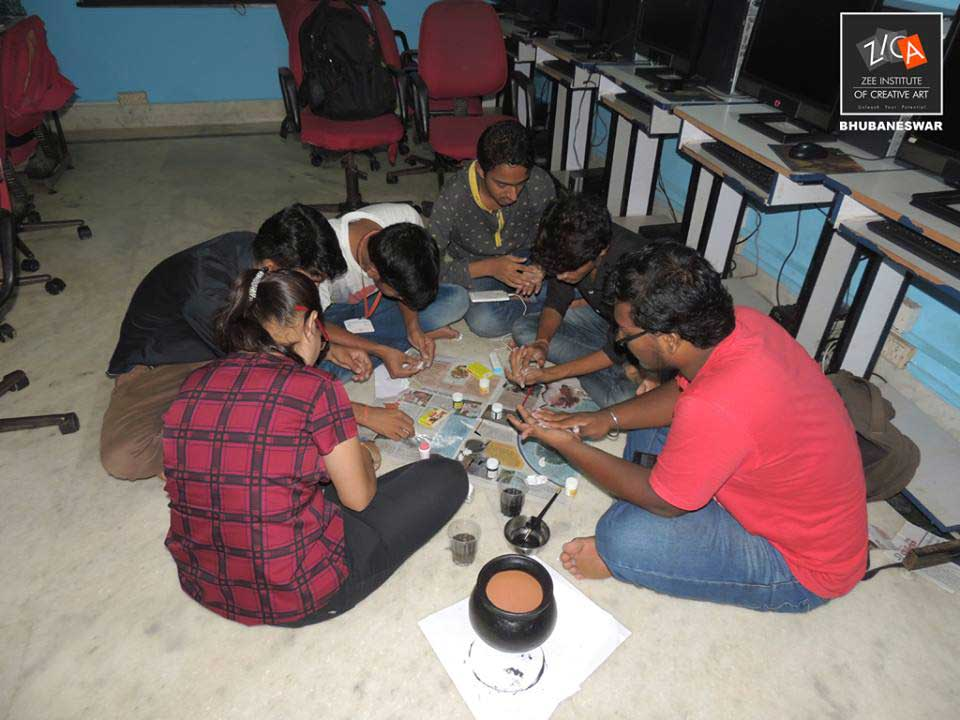 ZICA Bhubaneswar Student activity - Pot Painting