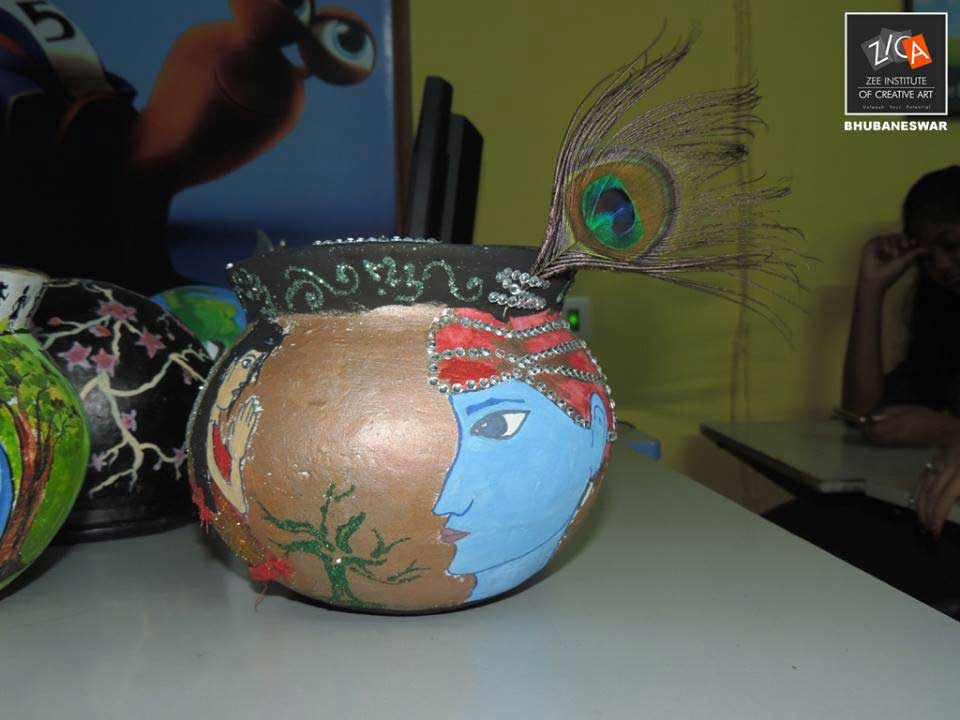 ZICA Bhubaneswar Student activity - Pot Painting Image 3