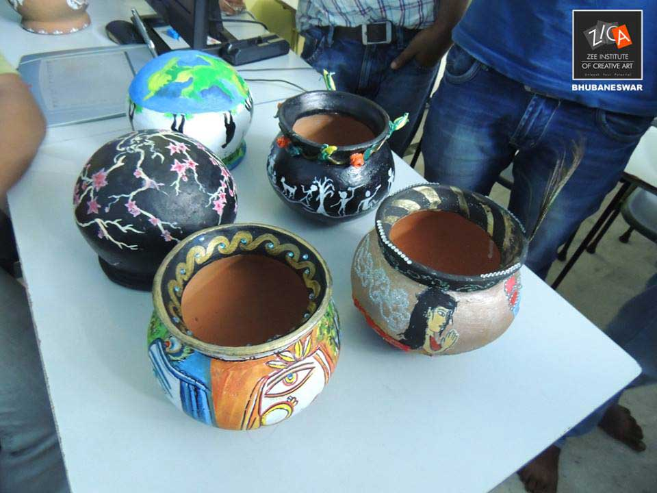 ZICA Bhubaneswar Student activity - Pot Painting Image 5