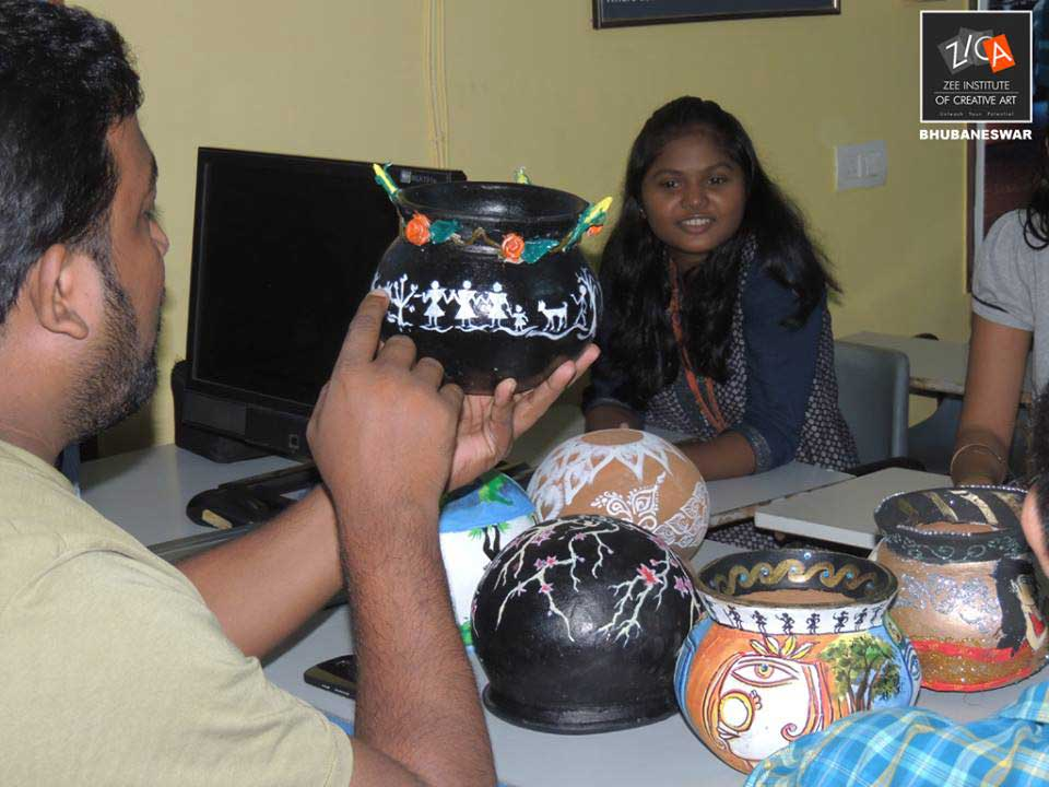 ZICA Bhubaneswar Student activity - Pot Painting Image 9