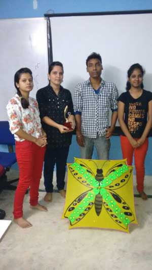 ZICA Bhubaneswar Student activity - Umbrella Painting Image 2