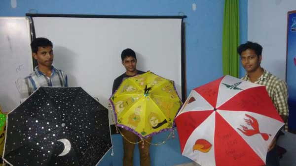 ZICA Bhubaneswar Student activity - Umbrella Painting Image 3