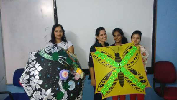 ZICA Bhubaneswar Student activity - Umbrella Painting Image 4