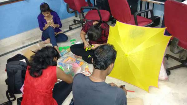 ZICA Bhubaneswar Student activity - Umbrella Painting Image 8