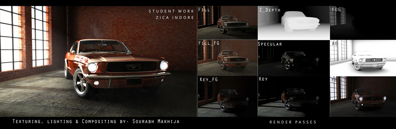 TEXTURING ,LIGHTING , COMPOSTING BY SOURABH MAKHIJA